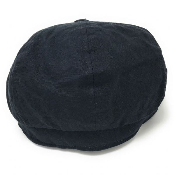 Linen Gatsby 8-piece Cap - Fully Lined - Navy